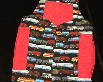 100% cotton reversible train overall newborn to 3 year//reversible John John//trains overall//train John John//reversible boy Overall