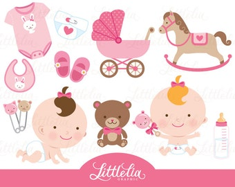 Baby girl clipart - baby clipart - 15018