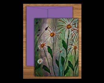 Dandelion Greeting Card Set of 10, Dandelion Cards, Blank Greeting Cards, Blank Cards, Blank Notecards, Floral Cards, Notecards, Flower Card