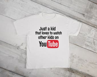 Kid Youtube Shirt