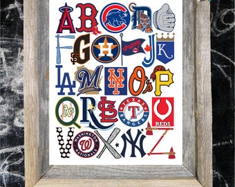 MLB ABC Nursery Art Print