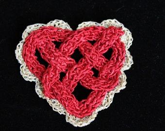 Celtic Heart Knot Pin