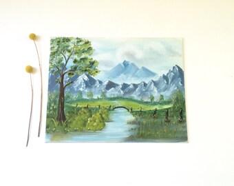 Vintage Landscape Painting /  Original Art