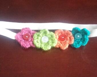 Multi-color flower headband