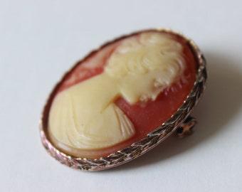 Vintage Kamee Brosche Pin Geschenk für sie traditionelle