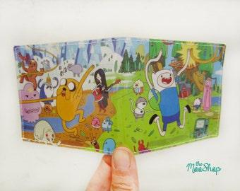 Vinyl Wallet - Adventure Time - Handmade