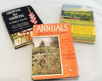 Vintage Gardening Books x 3 Flower Gardening Book Vegetable Gardening Book Landscaping Book