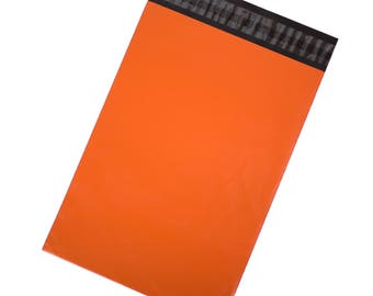 Orange Poly Mailers - Pack of 100
