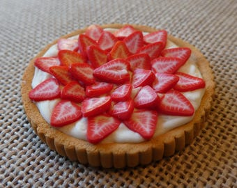 Miniature Strawberry Creme Tart
