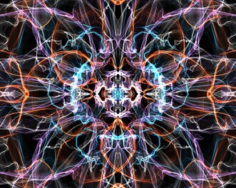 Mandala Art//Bright Home Decor//Psychedelic Art
