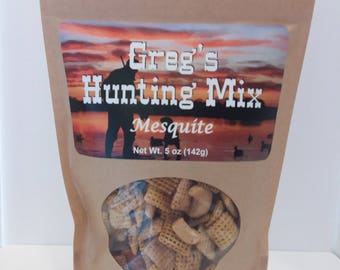 Greg's Hunting Mix, Hunting, Hunting Gift, Man Gift. Party Mix, Cabin Mix, Greg's