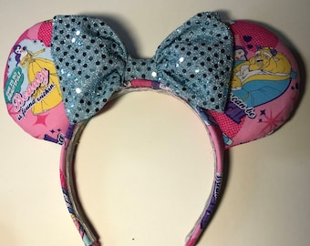 Beauty and the Beast Inspired Mouse Ear Headband
