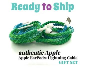Geschenk-Set für sie für iPhone 6 7 Ladekabel & gewickelt Gewirr frei EarPods Kopfhörer-iPhone-iPod in Harmonie