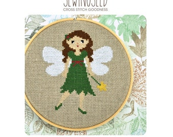 Woodland Fairy Cross Stitch Pattern Instant Download