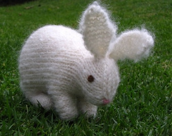 Easter Bunny Rabbit Knitting Pattern, PDF