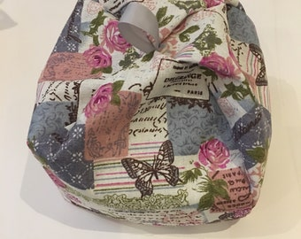 Vintage French Butterfly floral Beanbag cushion tablet holder