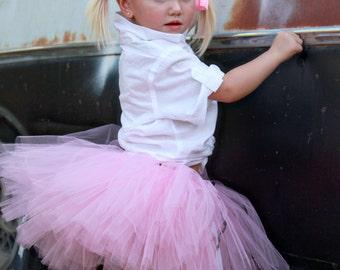 Rockabilly Kids Clothing | Retro Tutu | Betty | Pink Poodle Skirt Tutu by Atutudes | Sock Hop | Grease | Pink Ladies