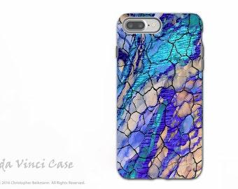 Blue Desert Abstract - Artistic iPhone 7 PLUS - 8 PLUS Tough Case - Dual Layer Protection - Desert Memories