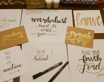 Customized Canvases, Personalized Cards, and more