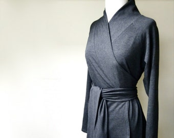 Shawl wrap shirt - long sleeve