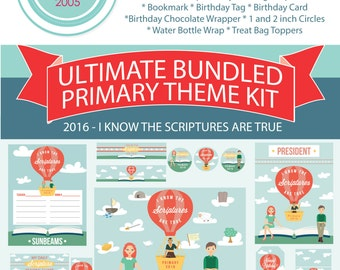 Ultimate 2016 LDS Primary Printables - I know the scriptures are true - LDS Primary Theme - MB