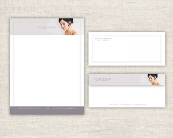 Photography Letterhead & Envelope Design - Photo Marketing Template for Photographers - Photoshop Design Templates, INSTANT DOWNLOAD