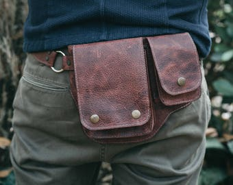 Leather Hip Bag | Waist bag | Leather Fanny Pack | Leather Belt Bag
