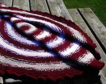 Crochet lap blanket, crochet lap rug, crochet blanket, lap blanket, lap rug, crochet afghan, round crochet throw, crochet round afghan