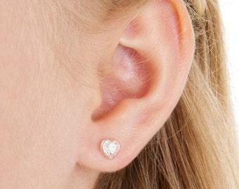 Nickel Free Earrings, Earrings for sensitive Ears, Heart Earrings, Medical Plastic Earrings, Hypoallergenic Earrings