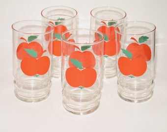 Vintage 70s juice glasses (huge)