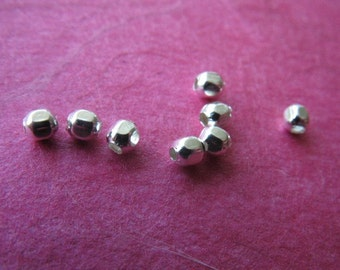 2.5 mm Sterling Silver SPACER Beads / Faceted Round Beads / 25-200 pieces / wholesale / beads / faceted / vsb2.2h
