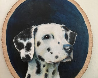 The Dalmatian - Small Oil Painting