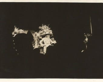 """Vintage Snapshot """"In A Darkened Auditorium"""" Back Of Head Audience Silhouette Rear View Found Vernacular Photo"""