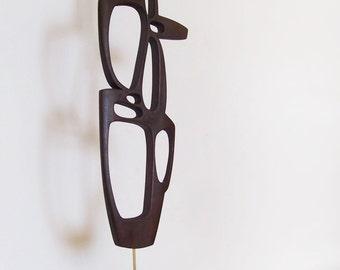 mid century modern abstract danish modern sculpture retro tiki 1950s 1960s