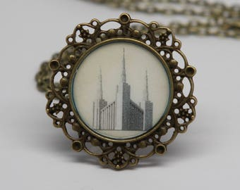 Sale! Portland Temple necklace, locket, pendant or key chain. FREE SHIPPING!!!
