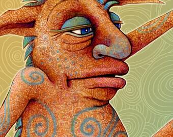 Monster - Personalized Children Name Sign - Children Name Print - Letter J Print - Monster Art - Kids Wall Art - Little Monster