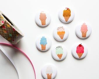Ice Cream Cones - Mini Flair Set