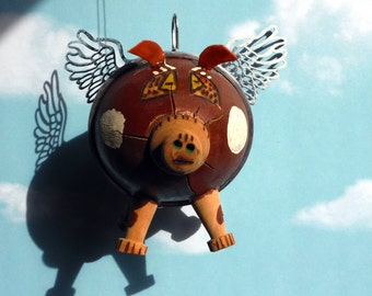 Flying Pig Gourd Bank from the Cayman Islands