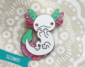 Axolotl Enamel Lapel Pin ~ Carnival (SECONDS SALE)