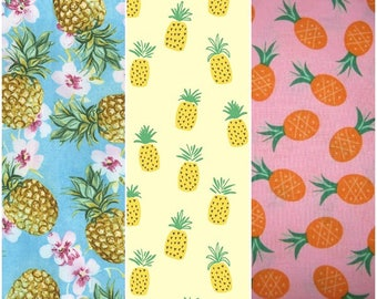 Pineapple Pineapples Summer Fun Cotton Fabrics by Dear Stella & Timeless Treasures!  [Choose Your Cut Size]