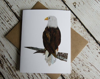 Bald Eagle Card of Original Collage