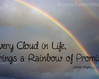Double Rainbow Photo with Inspirational Quote - Instant Download for Instant Encouragement - Unique and Beautiful Wall Art