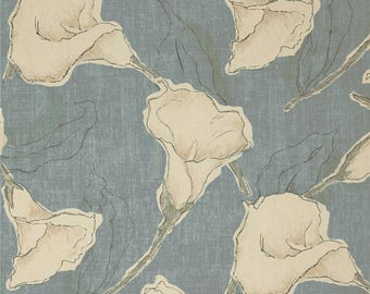 Calla Ocean, Magnolia Home Fashions - Cotton Upholstery Fabric By The Yard