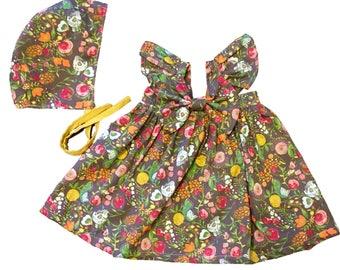 Girls Boho Dress, Newborn Boho Dress, Floral Baby Dress, Girls Floral Dress, Girls Bow Dress, Toddler Summer Dress, Baby Summer Dress