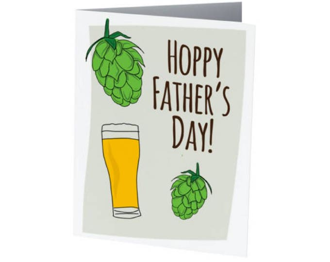 Featured listing image: Hoppy Father's Day   Father's Day Card   BEER LOVER!