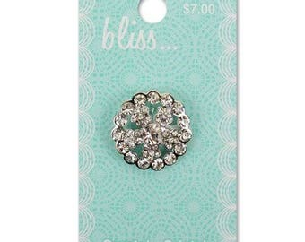 Crystal Round Bliss Button