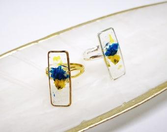 Pressed Flowers Ring
