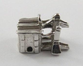 Lift Lock Sterling Silver Vintage Charm For Bracelet