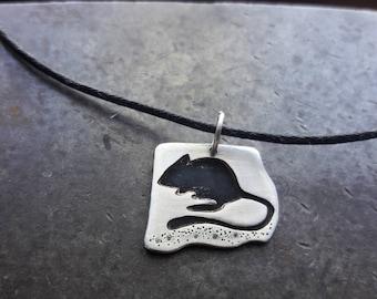 Kangaroo Rat Silhouette Pendant