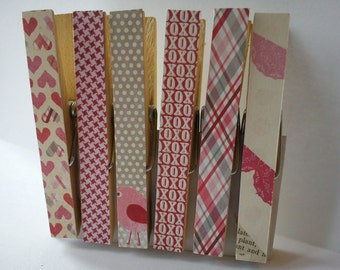 Clothespins Fridge Magnets Magnetic Pegs Valentine's - Mixed